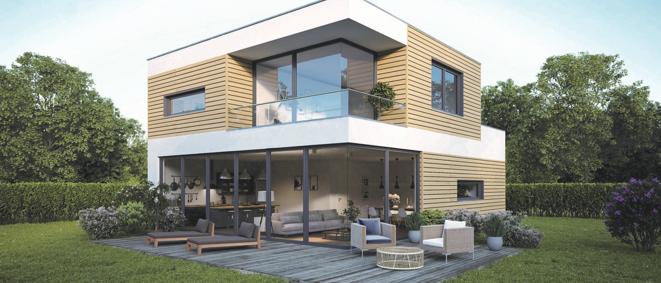 House with PVC facade