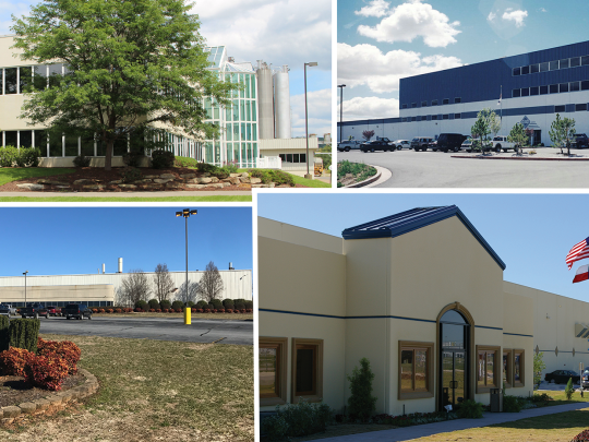 VEKA production sites in North America